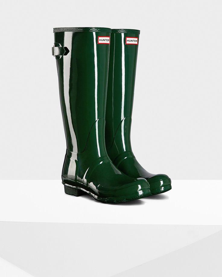 Women's Original Adjustable Gloss Rain Boots | Official Hunter Boots Site