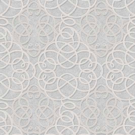 Ribbon Dance Silver Wallpaper