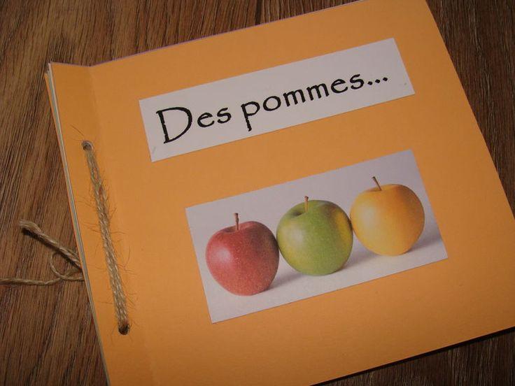 Petit livre fabriquer jeu de mots avec les pommes - Activite avec des pommes de pin ...
