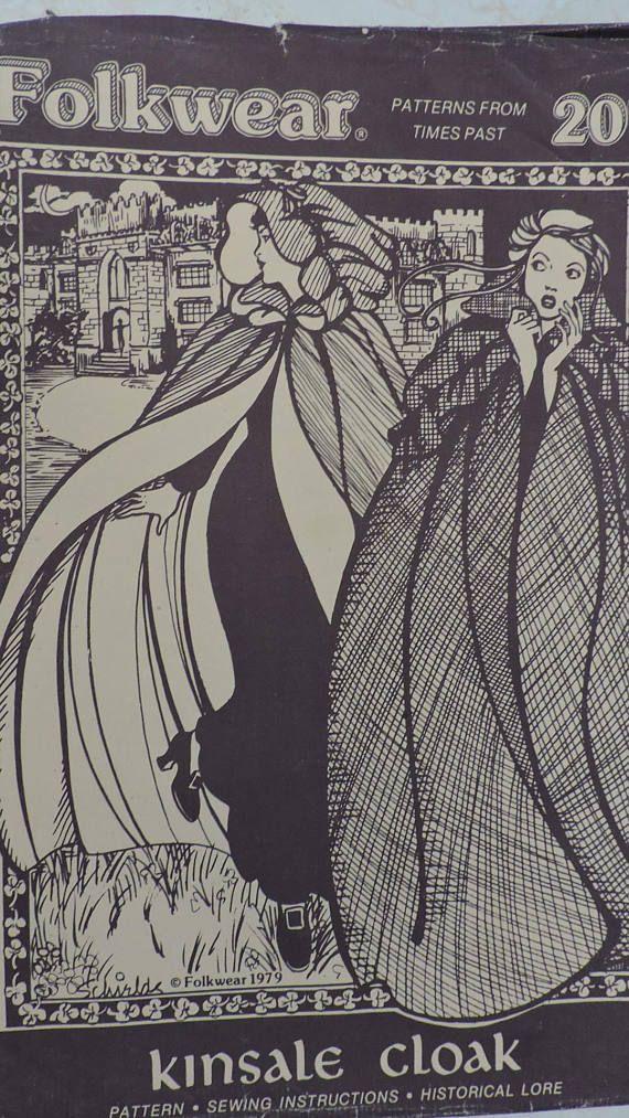 Kinsale Cloak Folkwear Historical Unisex Billowing Outerwear