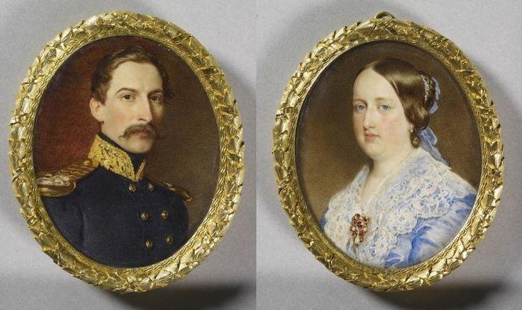 SMF a Rainha D. Maria II da Glória de Portugal e dos Algarves e SM o Rei D. Fernando II. Editorial: Real Lidador Portugal Autor: Rui Miguel