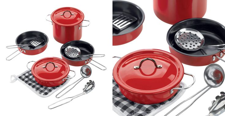 Toy Pots & Pans, Red