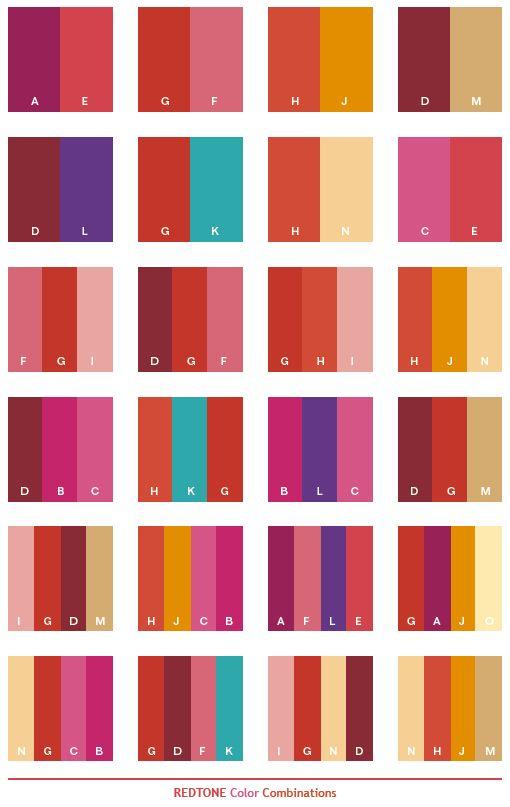 Redtone color combinations