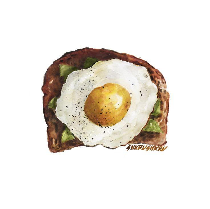 egg watercolor