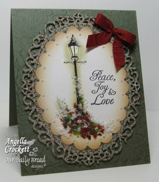 this card is all about texture/ great card  Peace, Joy, Love, and Flower Soft!! by angelladcrockett - Cards and Paper Crafts at Splitcoaststampers