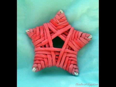 Jak zrobić gwiazdkę z papierowej wikliny [star, paper wicker] (Claoodia Art) - YouTube