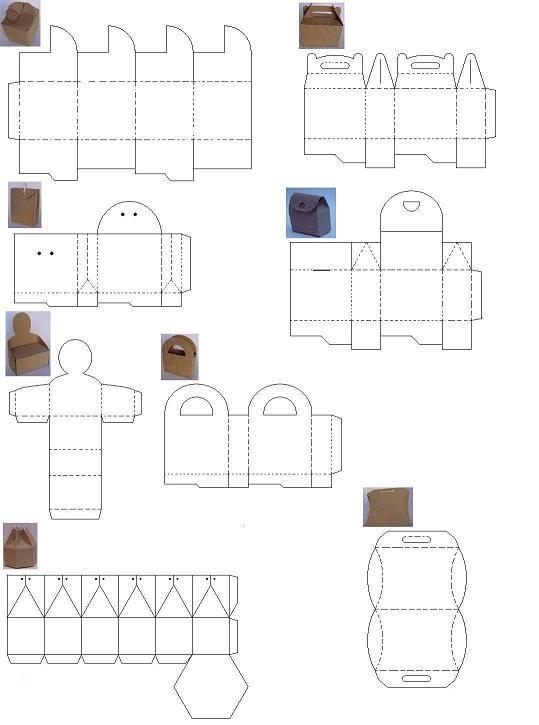 Moldes para hacer cajas de papel corrugado | Bag / Box | Pinterest ...