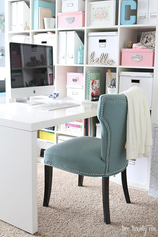 Functional home office with tons of storage