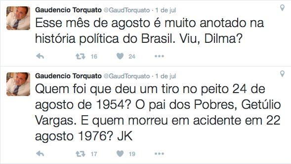 Ameaça à Presidenta Dilma.