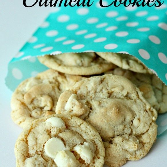 white chocolate chip oatmeal cookies | Cookies and Bars | Pinterest