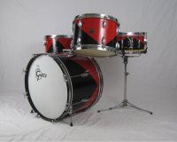 1957 Gretsch Jazz Drum Set 20-13-16-Snare Harlequin Lacquer SOLD