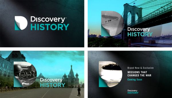 TV branding - Discovery History by PeteandTom , via Behance