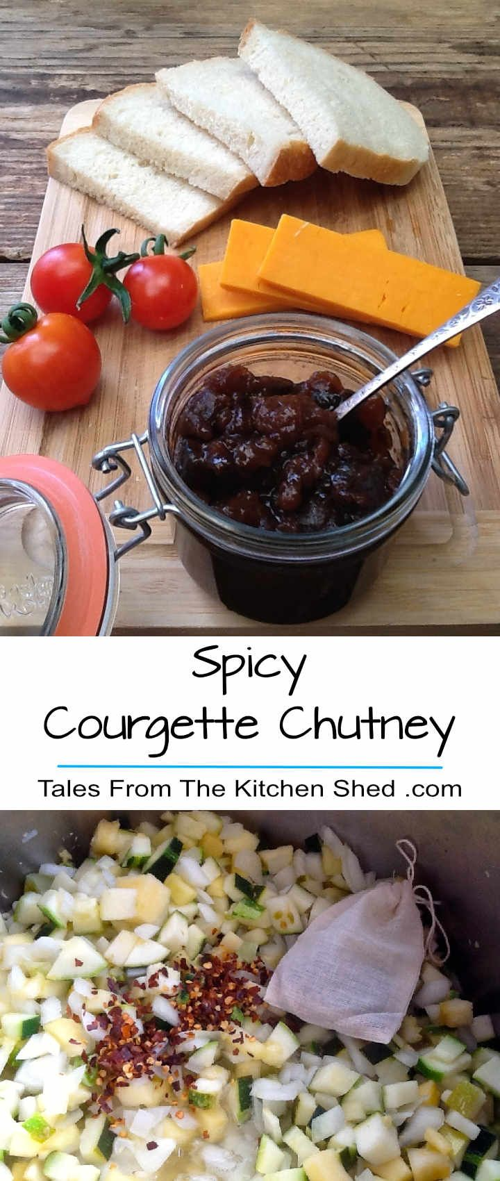 Spicy Courgette Chutney is delicious with cheese, cold meats & perfect for a cheese & pickle sandwich. Spiced with coriander, ginger, mustard…