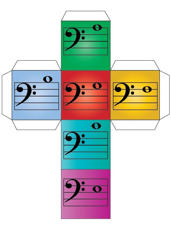 Bass clef note reading dice! Great for loads of different music teaching games! #pianoteaching #musicteaching