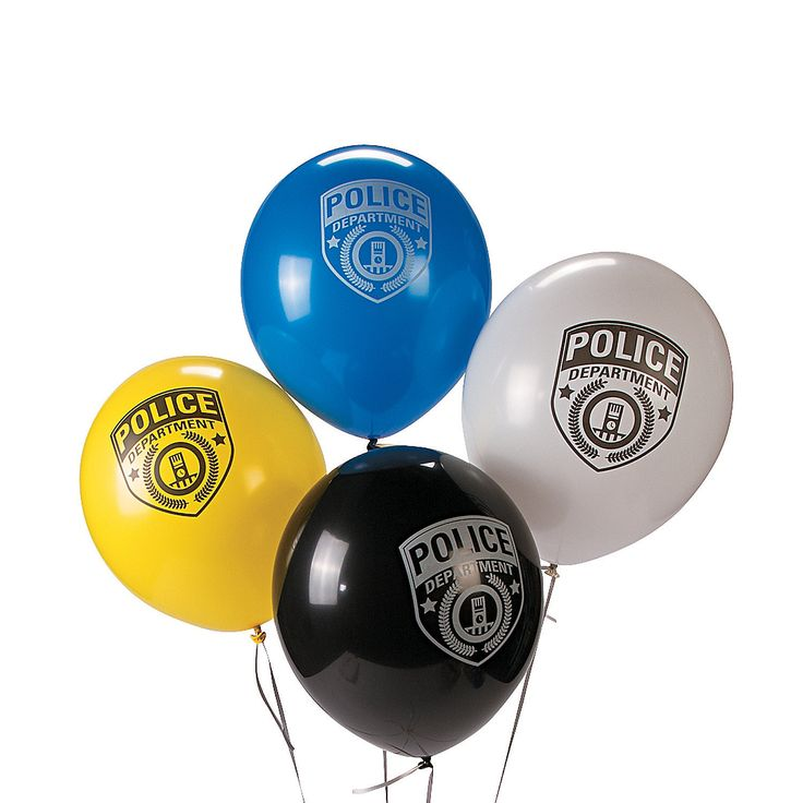 Police Party Latex Balloons - OrientalTrading.com
