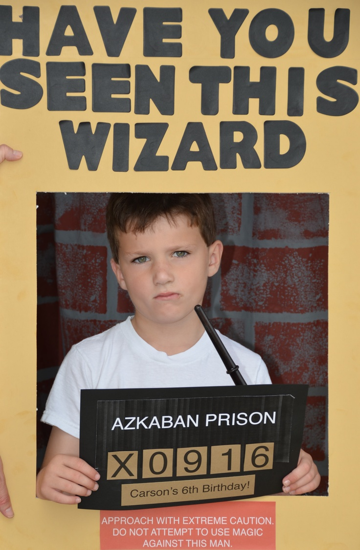 Harry Potter:  Photo booth