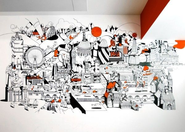 Corporate office murals google search bespoke walls for Environmental graphics wall mural