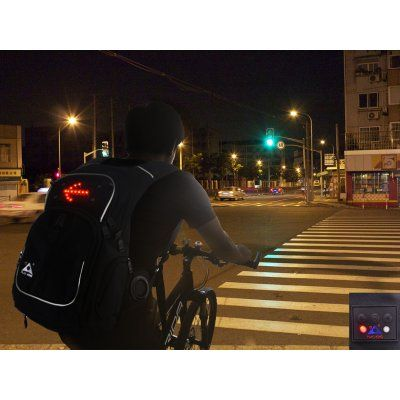 $39.99 This Backpack with Double Speakers and LED Directional Sign Lights is great for kids and adults alike who want a stylish way to carry their ... http://www.chinavasion.com/china/wholesale/LED_Lights/Automotive_LED_Lights/Backpack_With_Double_Speakers_-_LED_Sign_Lights/