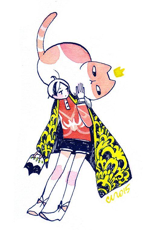 Illustration - Koyamori a.k.a. Maruti-bitamin #character
