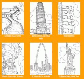 Educatieve kleurplaten : links naar aardrijkskunde kleurplaten