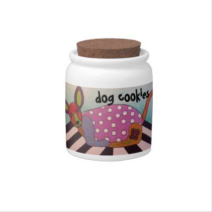 Dog Cookies Jar with Chihuahua Art Candy Dishes - cyo diy customize unique design gift idea perfect