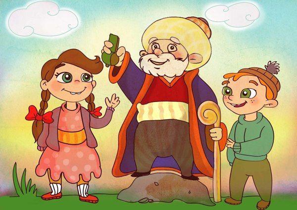 turkish folk tales  nasreddin hoca illustrations by tugce hebiloglu, via Behance