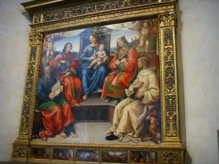 Santo Spirito, cappella segni, raffaellino del garbo, sacra conversazione, 1505 - Category:Santo Spirito (Florence) - Interior - Wikimedia Commons
