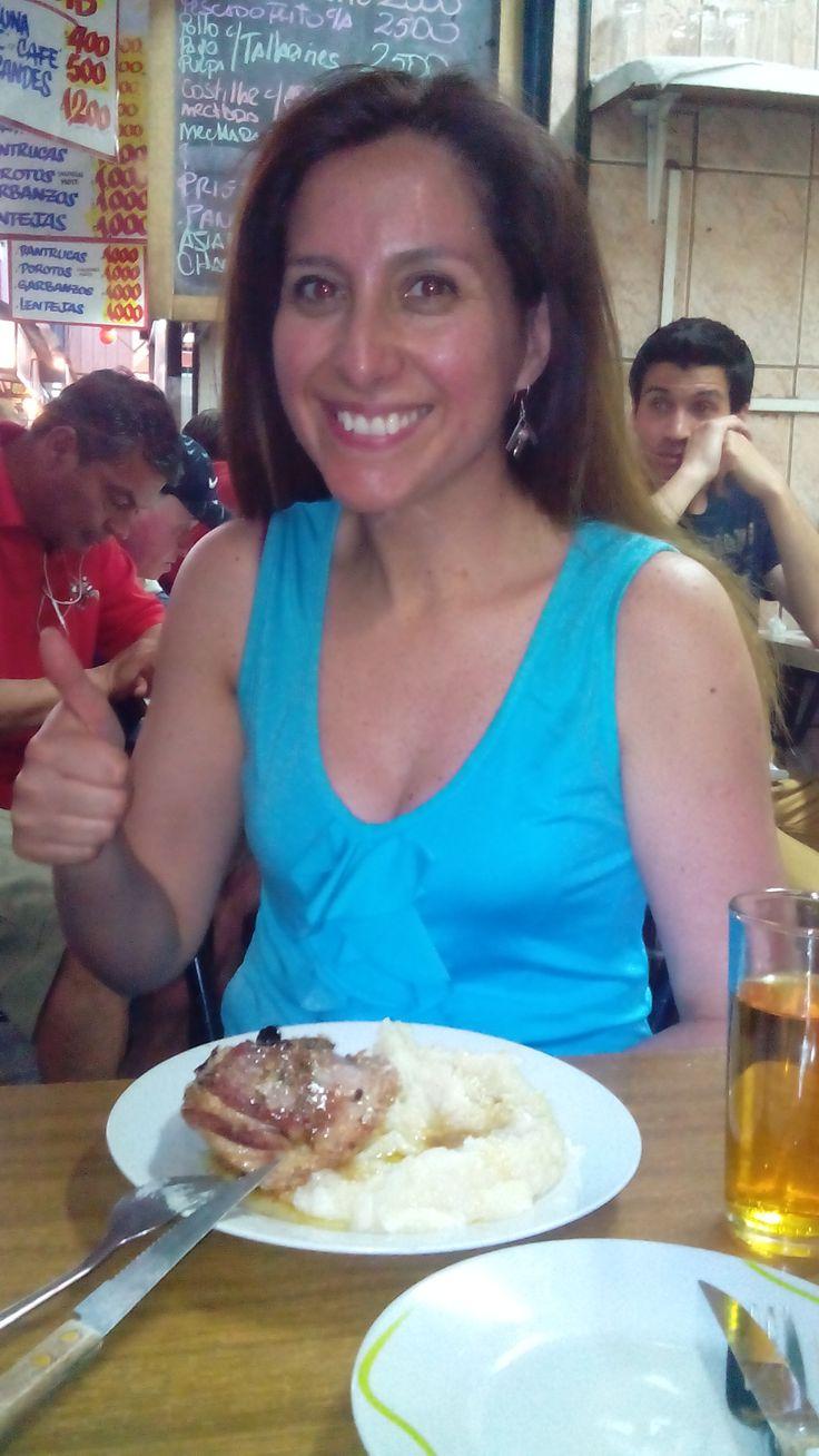 """Comida tradicional Chilena en La Vega Chica local 101 y 115 la """" Abuelita Mary """" - Porotos con Tallarines - Pantrucas - Porotos con Mote - Guatitas a La Jardinera - Caldo de Patas - Pollo Asado - Pollo Arverjado - Pulpa Al Jugo - Pavo Asado - Prietas / Chuletas / Churrascos - Tallarines con Molida - Cazuela de Vacuno - Cazuela de Chancho - Pescado Frito - Costillar - Mechada * Agregados de Ensaladas / Pure / Arros * Bebidas / Té / Café"""