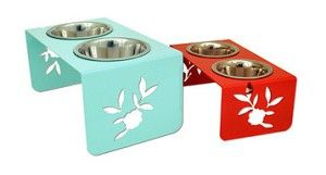 Great Design! Peony Standing Dog Bowl