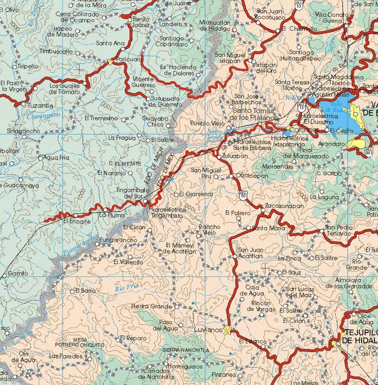 Mexico State | mexico state mexico map [9] - map of mexico state mexico [9] - mapa de ...