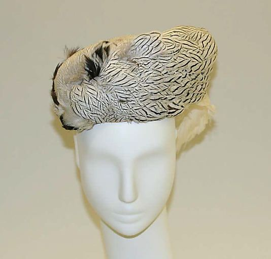 Toque Bill Cunningham Date: late 1950s Culture: American Medium: feathers Accession Number: 1980.374.5