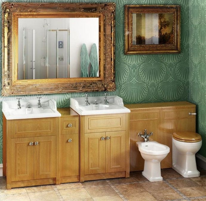 Beautiful Traditional Bathroom Inspiration. Period, Heritage Style. Burlington Solid  Wood Traditional Vanity Joining Unit Pictures Gallery