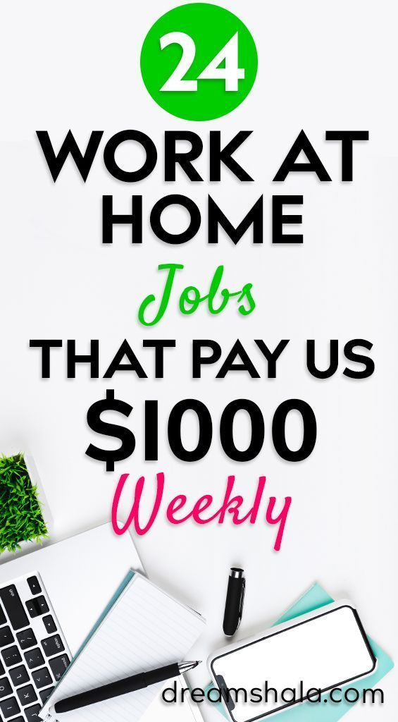 21 Genuine Work At Home Jobs That Pay Weekly – #Ge…