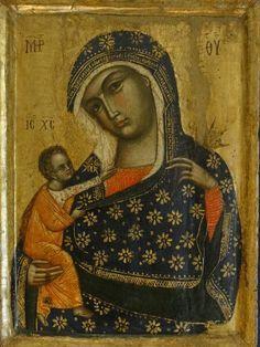 Maestro del dittico Sterbini - La Vergine con il Bambino - secondo quarto del XIV sec.- Assisi, Museo del Tesoro della Basilica di San Francesco