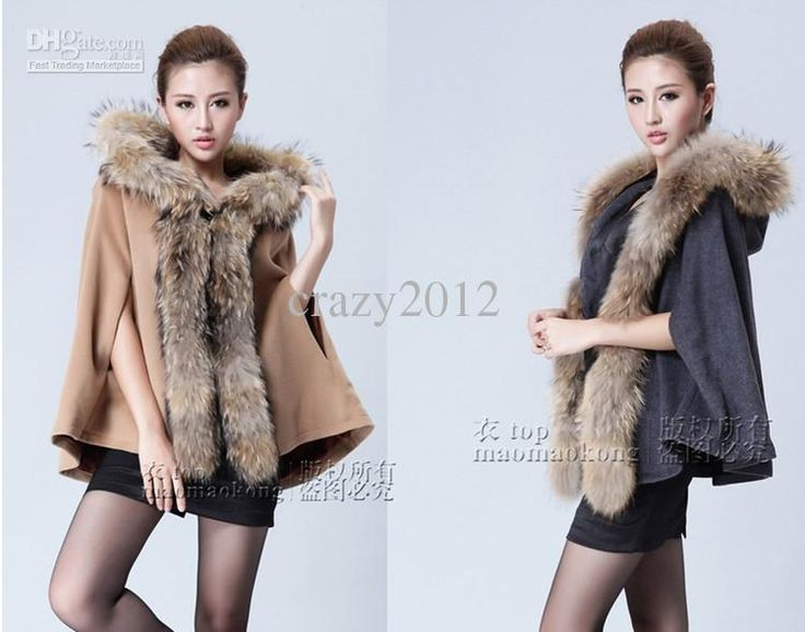Wholesale Ponchos - Buy 2013 NEW Luxury Women Fur Collar Woolen Coat Cape Loose Poncho Long Wool Jacket Cardigan, $116.0 | DHgate