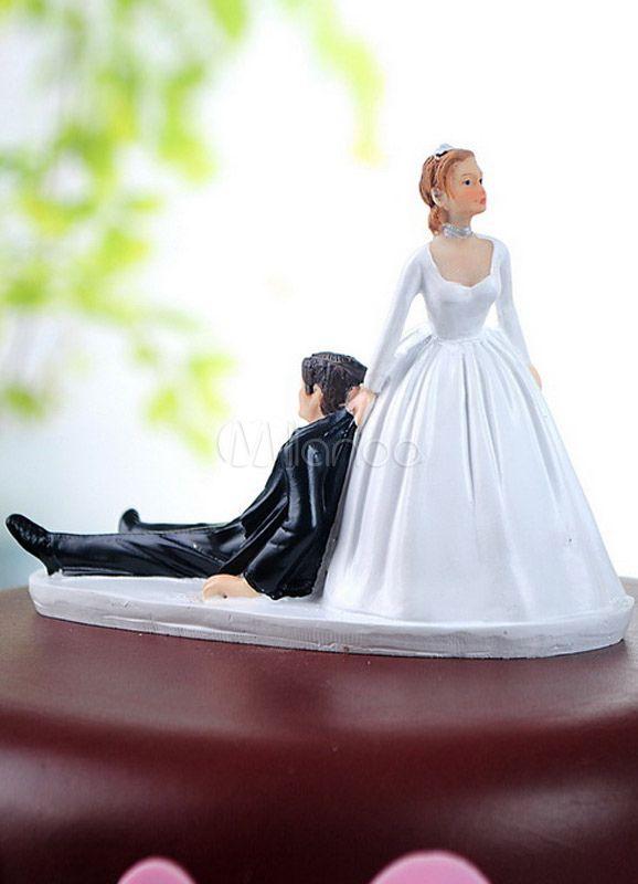 ケーキトッパー ウェディングケーキの飾りに 花嫁花婿の結婚式のケーキに 結婚祝いに - Milanoo.jp