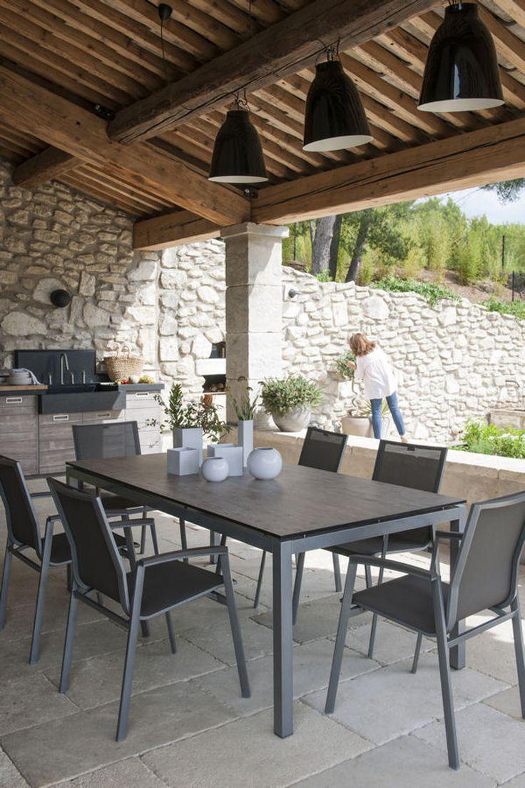Les 25 meilleures id es de la cat gorie gravier de jardin - Photo maison avec terrasse couverte ...