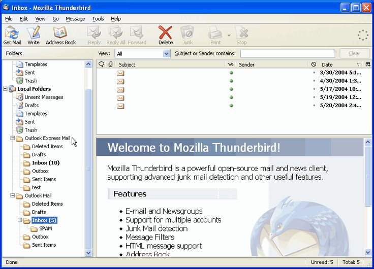 Thunderbird - Importing Outlook Emails and Addressbooks