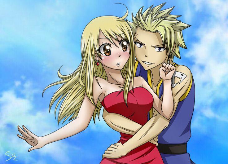 Stinglu || Sting Eucliffe x Lucy Heartfilia || Fairy Tail ... ( don' t ship, but cute )