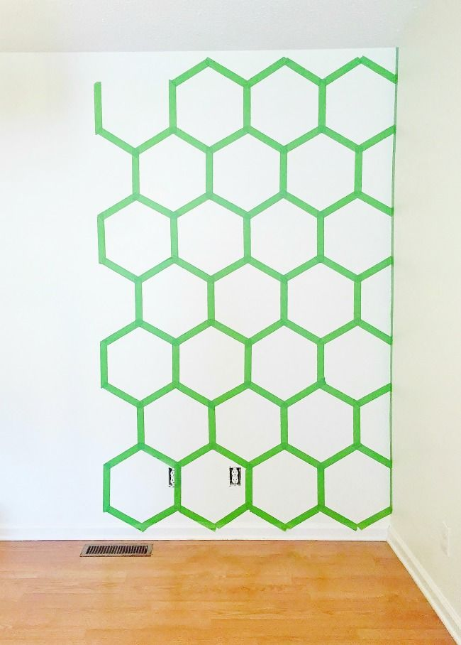 Hexagon Wall Mid-Taping Picture