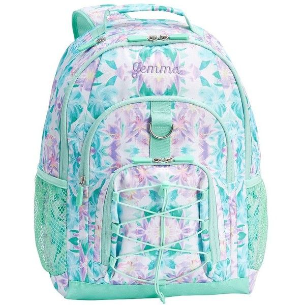 PB Teen Gear-Up Kaleidoscope Floral Backpack ($50) ❤ liked on Polyvore featuring bags, backpacks, print backpacks, floral backpack, water resistant laptop backpack, floral-print backpacks and day pack backpack