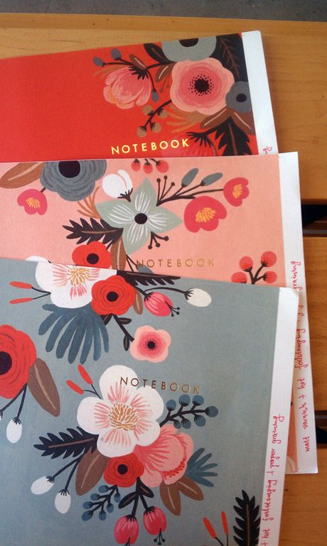 anxiously awaiting the release of these rifle paper co. notebooks from chronicle books in may!
