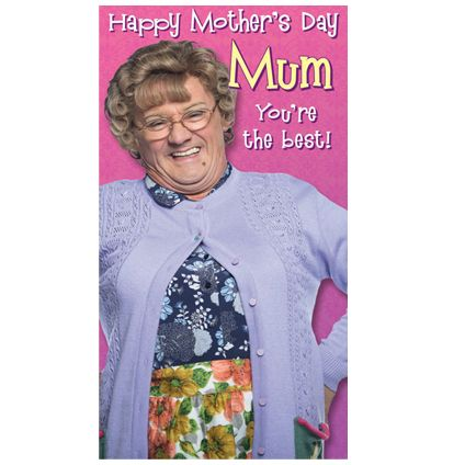 Mrs Brown's Boys Mother's Day Card now available with Free 1st Class UK Postage from Publishers Danilo.com at http://bit.ly/MotherDayCardsWrap