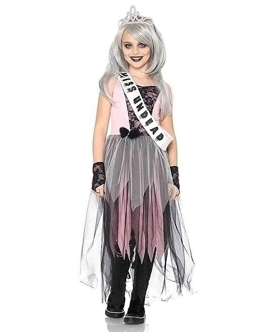 Zombie Prom Queen Dress-Up Set - Kids