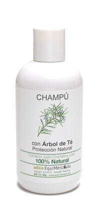 Champú de árbol de té. 250 ml. Producto 100% natural certificado. El champú de árbol de té, suave para la piel, incorpora la dosis adecuada de árbol de té para prevenir la aparición de piojos. Usar el champú de forma habitual. Libre de SLS.
