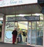 Judy outside her Lee Nova Craft Haberdashery store at St Marys