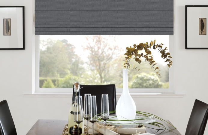 Panama Popular Grey Roman Blinds. Direct blinds, cheap made to measure. Get fabric samples if you use these guys though.