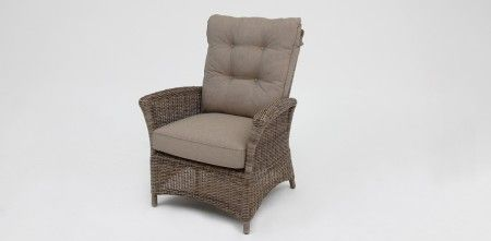 Yale premium reclinable armchair twig/brown