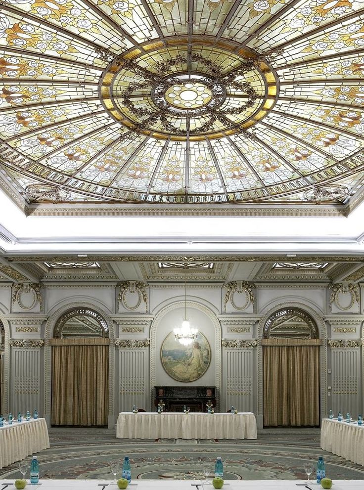 Le Diplomate Ballroom at Athenee Palace Hilton Bucharest, Romania, a UNESCO heritage monument