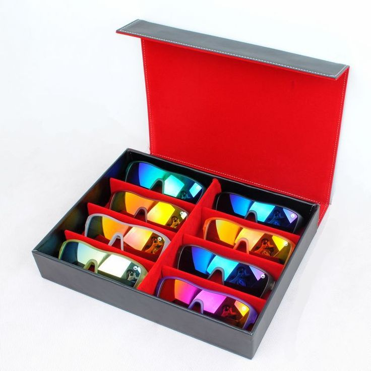 Cheap box resin, Buy Quality sunglasses dc directly from China sunglasses display box Suppliers: Quality Black Display Case Leather Sunglasses Organizer Box  Family Eyewear Storage Usage 8 Compartments
